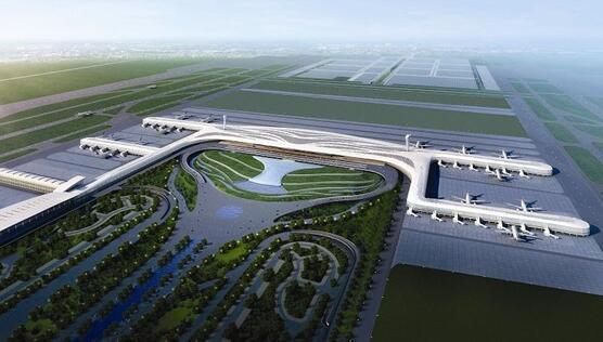 武汉天河机场三期扩建工程主进场路波形護欄工程案例图1